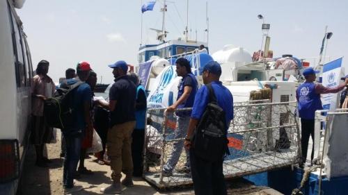 «الهجرة الدولية»: إجلاء أكثر من 100 إثيوبي طوعاً من اليمن إلى جيبوتي