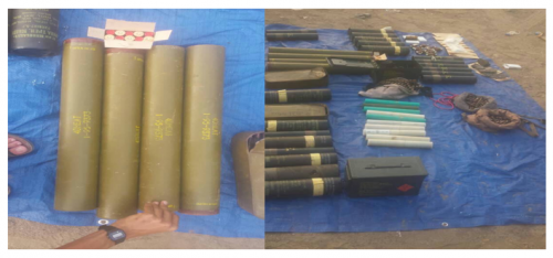 قوات الحزام الأمني في لحج تضبط كميات من الأسلحة والذخائر المهربة