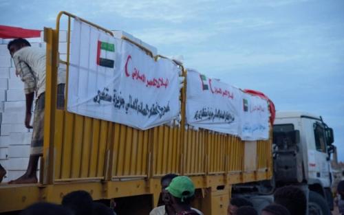 """تقرير يرصد الجهود الإغاثية التي قدمها """"الهلال الأحمر الإماراتي"""" لليمن خلال شهر مايو"""