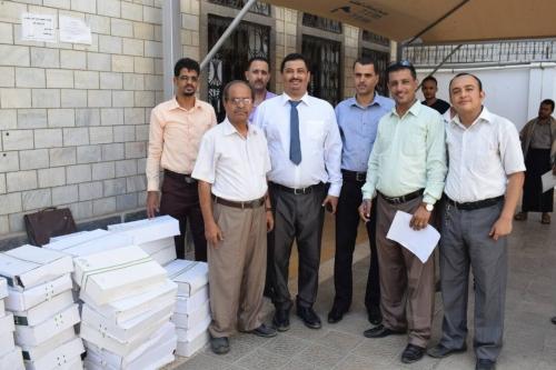وزير التعليم العالي يدشن توزيع التمور المقدمة من مركز الملك سلمان لموظفي الوزارة