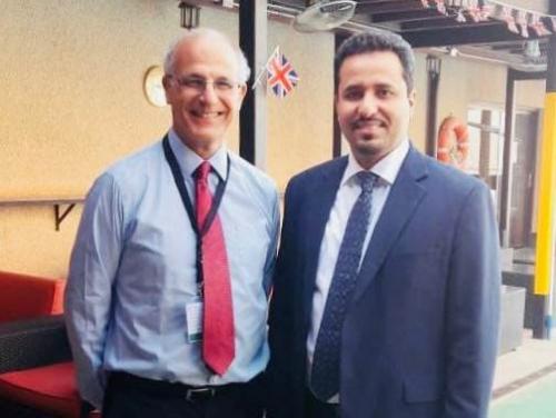 الحالمي يلتقي السفير البريطاني لدى اليمن ويناقش معه المستجدات على الساحة الجنوبية