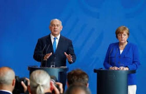 ميركل ونتنياهو يتفقان على أن أنشطة إيران مصدر قلق لإسرائيل