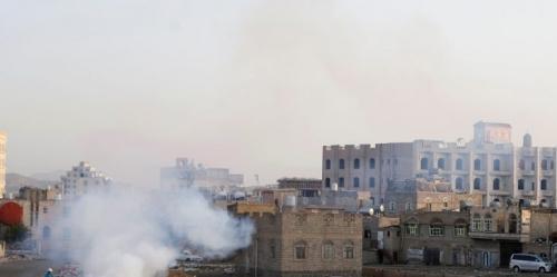 غارات جوية للتحالف على المقر السياسي للحوثيين في صنعاء