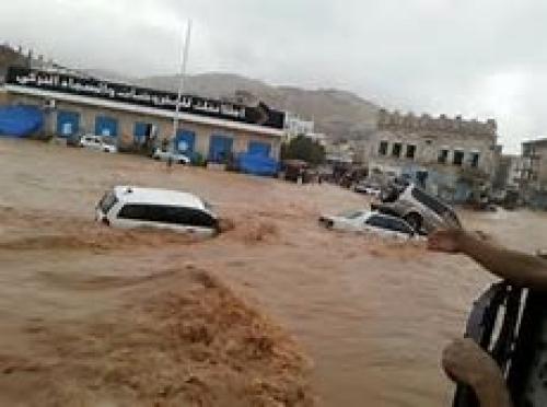 وصول لجنة حكومية إلى حضرموت لمتابعة وتقييم أضرار السيول الأخيرة