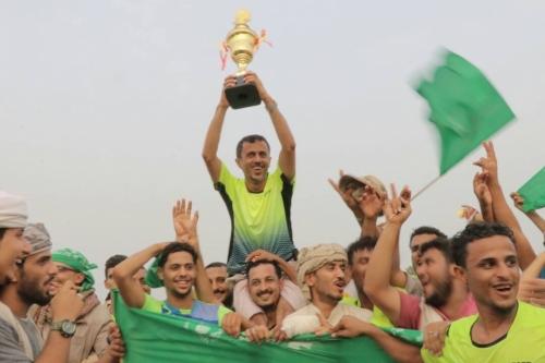 فريق الأمداد بطلاً لدوري الوية الدعم والأسناد لكرة القدم بعدن