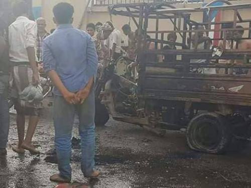 مقتل شاب واحتراق دراجته النارية برصاص مجهولين في الشيخ عثمان بعدن