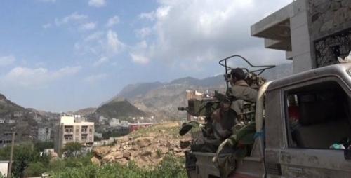 الجيش الوطني يسيطر على مواقع استراتيجية جديدة في مديرية جبل حبشي غربي تعز