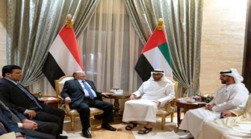"""الرئيس هادي يعزي القيادة الإماراتية بإستشهاد أربعة من الجنود المشاركين في عملية """" إعادة الأمل """""""