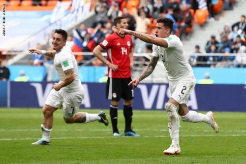 الفراعنة يخسرون بشرف أولى مبارياتهم بالمونديال  أمام الأرجواي