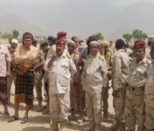 قائد المنطقة العسكرية الرابعة اللواء فضل حسن يتفقد اللواء 115 بلودر