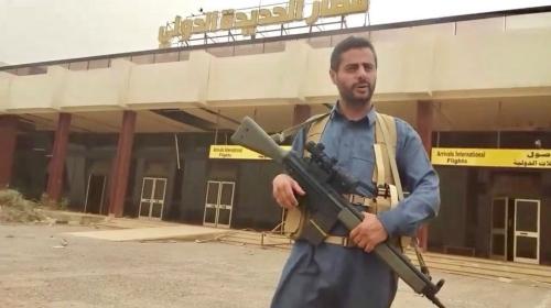 القيادي الحوثي المحاصر داخل مطار الحديدة محمد البخيتي : نواجه هجوم لم يسبق له مثيل