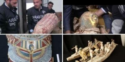 إيطاليا توافق على تسليم مصر الآثار المُهربة
