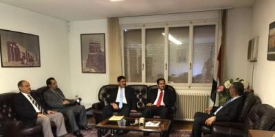 وزير حقوق الإنسان اليمني يستعرض في جنيف مهام الوفد المشارك في الدورة الـ 38 لمجلس حقوق الانسان
