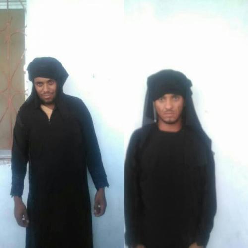 رجال يرتدون ملابس نسائية في قبضة الشرطة النسائية في لحج