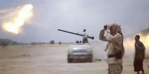مدفعية الجيش تقصف مواقع المليشيا غرب