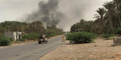 التصدي لمحاولات تسلل يائسة للحوثيين في مطار الحديدة و المجيلس وشرق حيس
