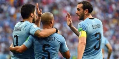 أوروجواي يتفوق على روسيا ويتصدر المجموعة الأولى