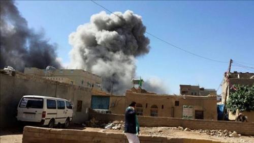 مقاتلات التحالف تقصف تجمعات لميليشيا الحوثي في مديرية سحار بصعدة