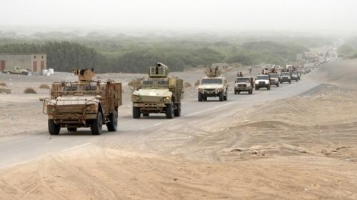 القوات المشتركة تمشط محيط منطقة الفازة في التحيتا