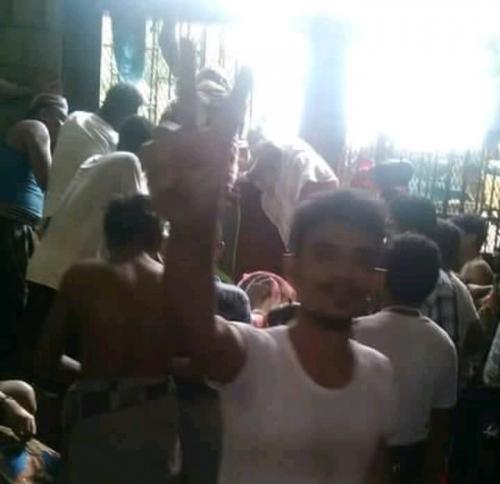 انتفاضة ضد الحوثيين في سجن الحديدة المركزي