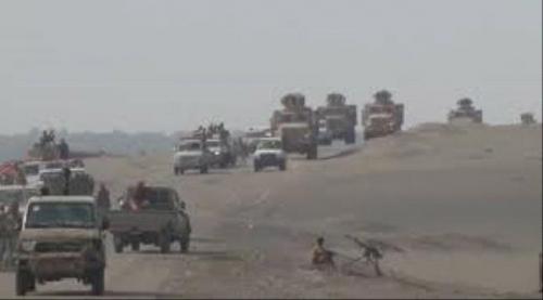 الجيش الوطني يدفع بتعزيزات كبرى نحو كرش والحديده والسد المنيع لكهبوب