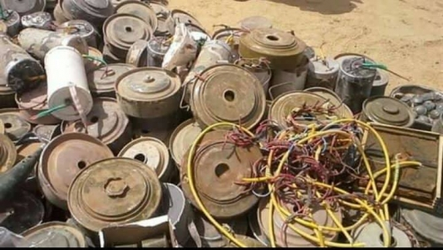إتلاف كمية من الألغام الحوثية في محافظة شبوة