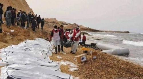 وفاة 5 يمنيين غرقاً قبالة سواحل ليبيا