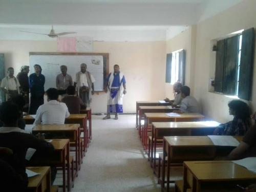 مكتب التربية بجردان شبوة يدشن امتحانات الثانوية العامة