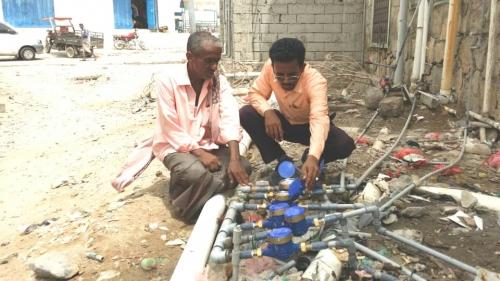 مؤسسة المياه أبين تدشن حملتها لتركيب عدادات المياه