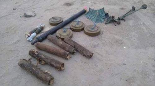 ابين : الحزام الأمني يداهم وكرا للعناصر الإرهابية  في منطقة السواد ويعثر  على أسلحة ومتفجرات