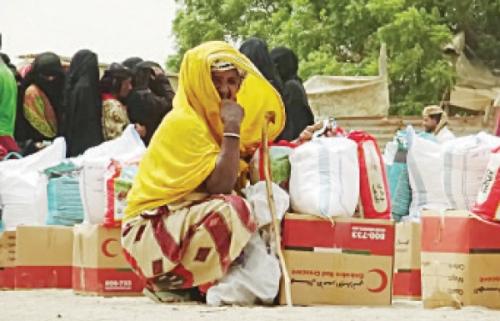 35 ألف مستفيد من مساعدات الإمارات التي تم توزيعها في الحديدة خلال الأربعة الأيام الماضية