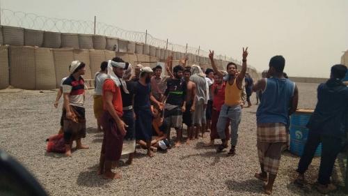 منظمة حق تشهد عملية افراج لـ 46 سجيناً من نزلاء سجن بئراحمد بعدن