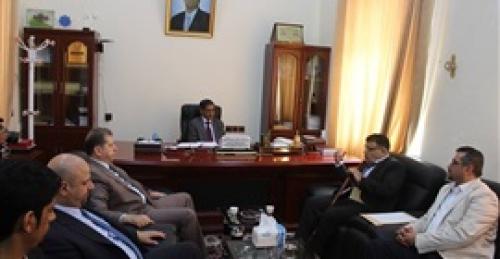 البحسني يستقبل فريق الخبراء الأردنيين لتقييم وتصنيف الجامعات اليمنية