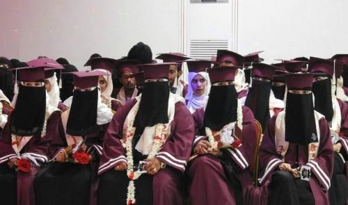 تغطية مصورة لحفل تخرج دفعة ( العزيمة والإصرار ) من قسم معلم إجتماعيات في كلية التربية بعدن