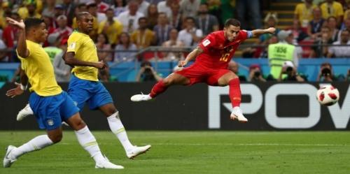 """المنتخب البلجيكي يصعق البرازيل ويؤكد أن المونديال """" أوروبي خالص """""""