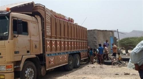 الهلال الأحمر الإماراتي يتغلب على الطبيعة الجغرافية القاسية لإغاثة سكان القبيطة