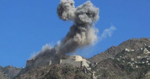 قصف صاروخي ومدفعي يستهدف مواقع الميليشيا في رازح وشدا بصعدة