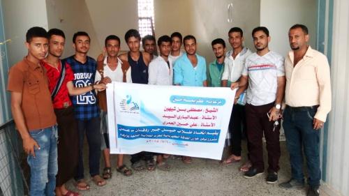 اتحاد طلاب حبيل جبر ردفان - عدن يقيم مشروع توفير خوازن الطاقة الكهربائية للمساكن الطلابية التابعة للاتحاد