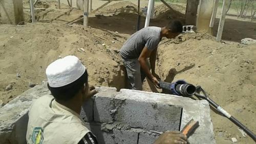 بدء تأهيل مشروع مياه التحيتا عقب قصف الحوثيين