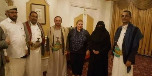 استياء حكومي من اللقاءات الانفرادية التي تعقدها سفيرة الاتحاد الأوروبي مع قادة الميليشيات الحوثية في صنعاء