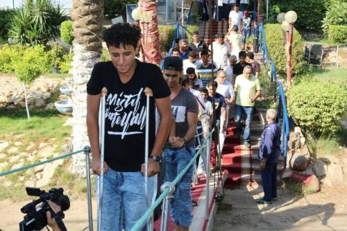 بدعم من دولة الإمارات .. مكتب جرحى الساحل الغربي بالقاهرة ينظم رحلة ترفيهية للجرحى.