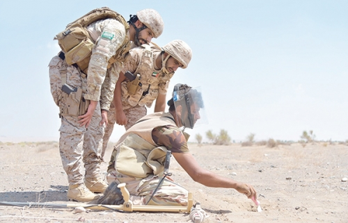 بدعم من التحالف.. تواصل عمليات نزع الألغام التي زرعها الحوثيون في البيضاء (فيديو)