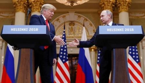 """ترامب يؤكد : أنا الأكثر """" حزما """" مع روسيا"""