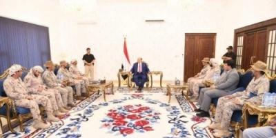 الرئيس هادي يستقبل قائد قوات التحالف العربي بعدن