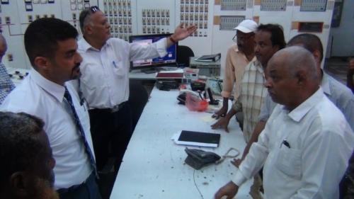 استكمال اعمال التأهيل لإضافة ٣٥ ميجا بمحطة الحسوة بعدن