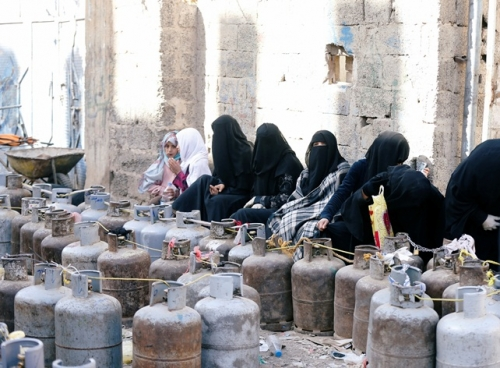 أزمة غاز تضرب صنعاء
