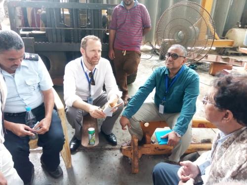 وفد من برنامج الأمم المتحدة الإنمائي يطلع على احتياجات مصلحة خفر السواحل  في عدن