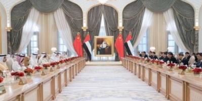 محمد بن زايد : مباحثاتنا مع الرئيس الصيني أثمرت رؤية متقدمة للعلاقات