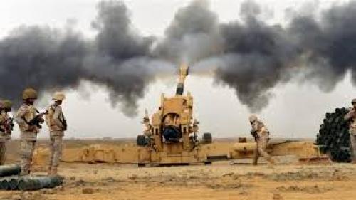 قصف مدفعي وصاروخي يستهدف مواقع للمليشيا في رازح بصعدة