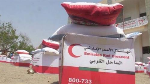 الهلال الأحمر الإماراتي يكثف من نشاطه لإغاثة المتضررين والأسر المحتاجة في الساحل الغربي